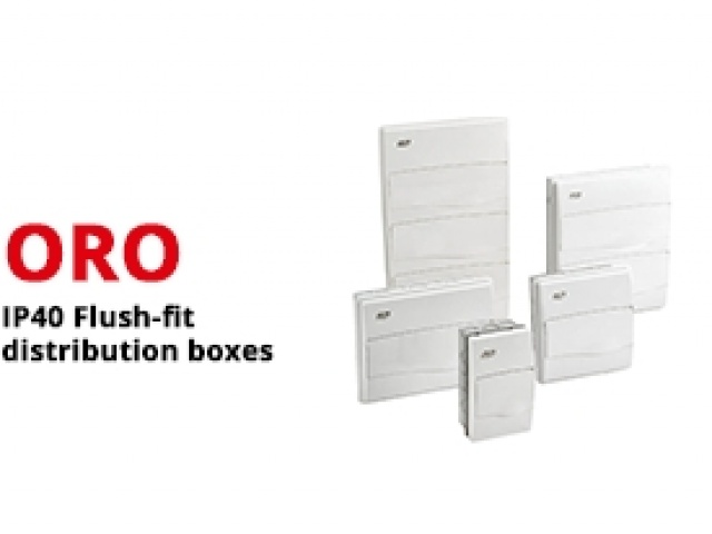 IP40 Flush-Fit distribution boxes with steel door
